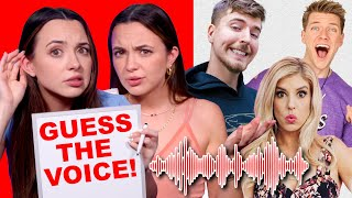Guess the YouTuber Using ONLY Their Voice - Challenge - Merrell Twins