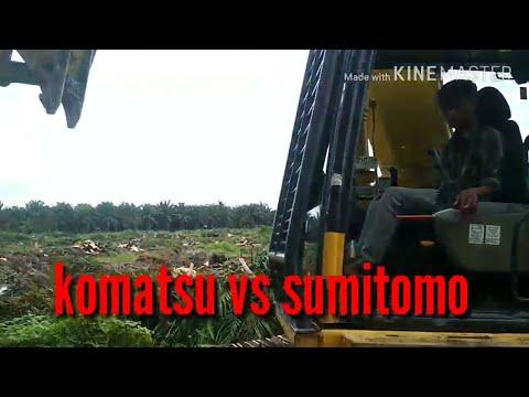 Halper Belajar chiping Komatsu vs sumitomo excavator