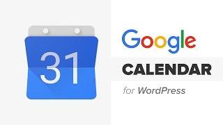 How To Add Google Calendar In Wordpress Youtube