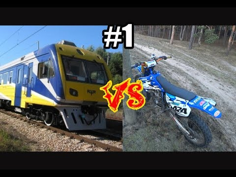 #1 Электричка против Мотоцикла, Train Vs Dirtbike