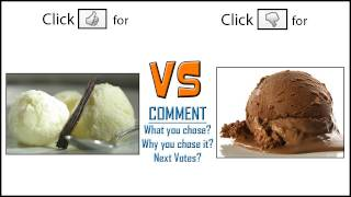 Vanilla Vs Chocolate (which Do You Like More??)