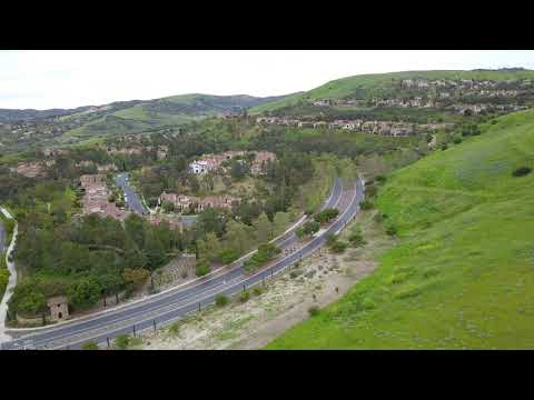 Drone Flight Over Turtle Rock & Turtle Ridge Near Bonita Canyon Elementary School