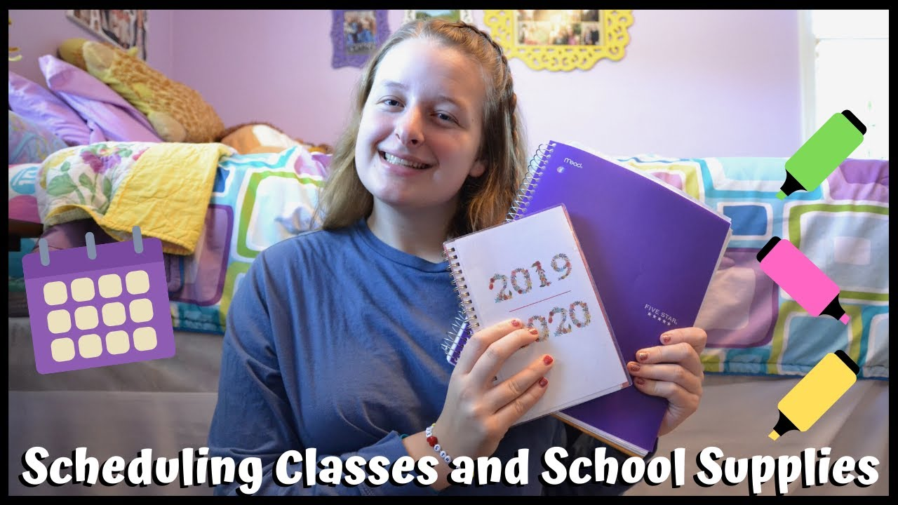 How to Survive College: Scheduling Classes and School Supplies📚 | #1