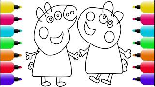 Drawing Peppa Pig & Suzy Sheep | Drawing for Children