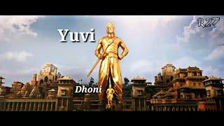 Bahubali version troll Dhoni & Yuvi Fan base craze💪😎 WhatsApp status😋just for fun!!!