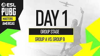 Day 1 of the esl pubg masters americas group stage. watch groups a and b battle it out to start off top 16 24 teams will move on ...
