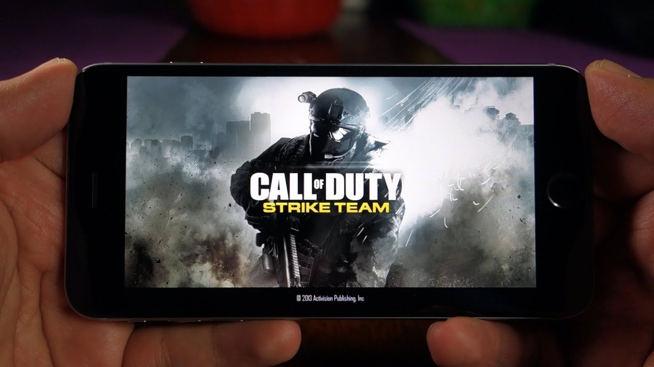 iPhone 6 Plus Call of Duty Strike Team Gameplay