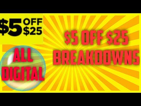 Dollar General $5/$25 Breakdowns for Saturday December 7th 2019 ALL DIGITAL