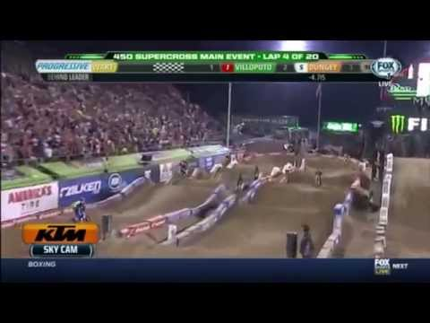 [HD] 2014 AMA Supercross round 17  Las vegas 450 Main event