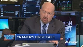 Cramer mocks Wall Street idea that Apple stock is one analyst note away from being finished