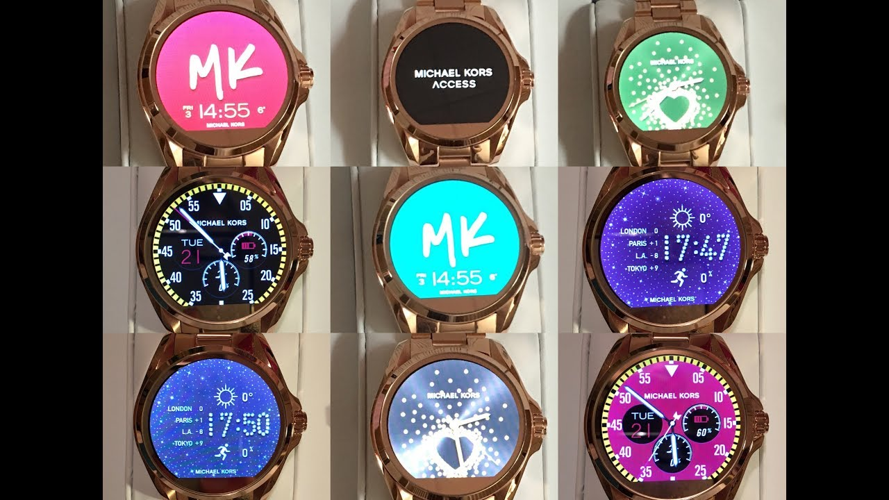 77a70e205632 Michael Kors Access Bradshaw Smartwatch in rose gold unboxing preview