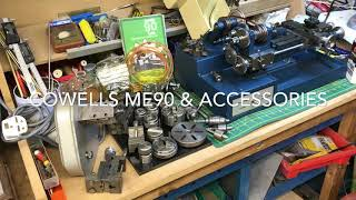 Cowells 90ME Clockmakers Lathe & Accessories Overview - wheel and pinion cutter + rotary table