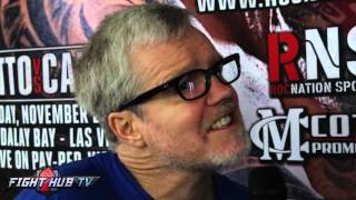 "Freddie Roach ""7th or 8th round, he will be ready to go; body shots are gonna kill Canelo"""