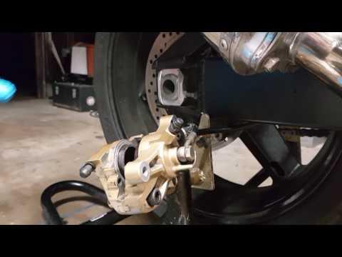 DIY K4/K5 Suzuki GSXR Rear Brake Servicing