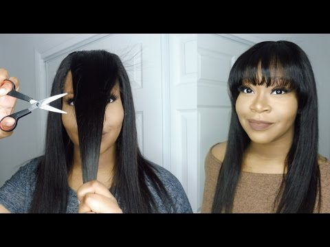 how to style straight hair with bangs how to cut fringe bangs aliexpress malaysian 4896 | hqdefault