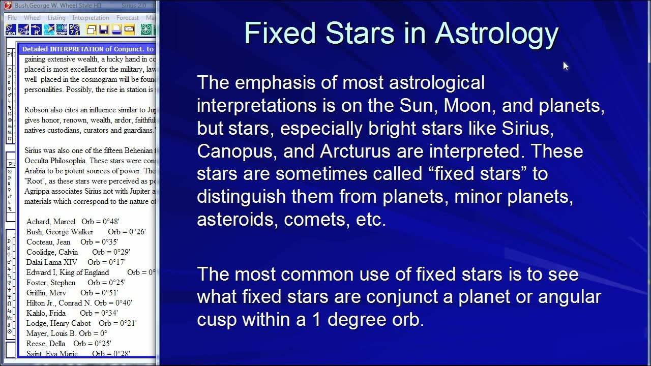 Fixed Stars in Astrology