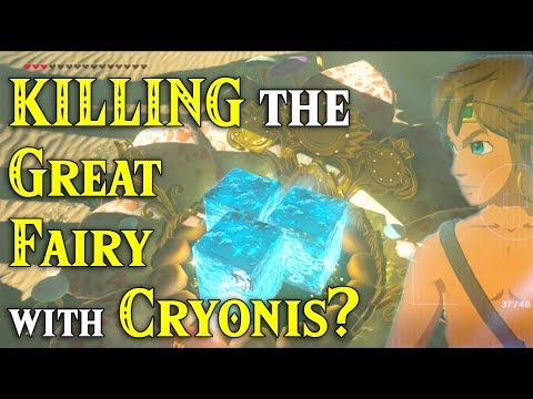 KILLING the Great Fairy with Cryonis? She has to go in Zelda