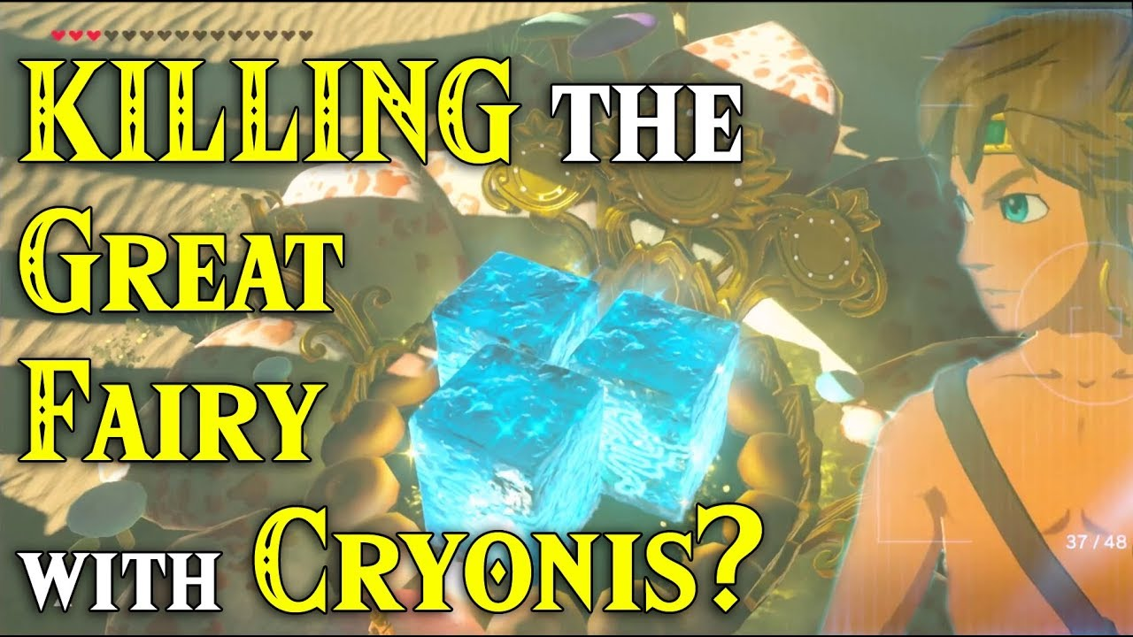 KILLING the Great Fairy with Cryonis? She has to go in Zelda Breath of the  Wild