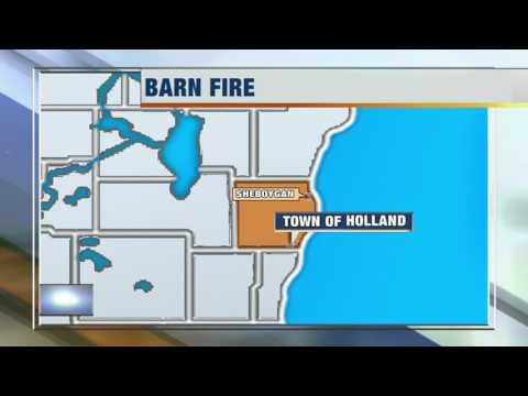 Sheboygan County barn fire