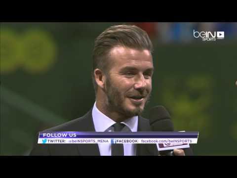 Interview with David Beckham - Qatar Open Tennis - Doha 2015