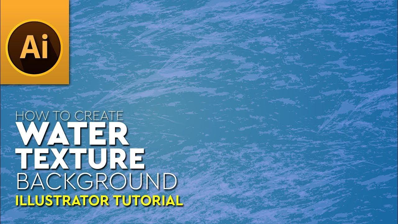 How To Create Vector Sea Water Texture In Illustrator Tutorial