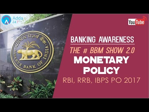 Banking Awareness | Monetary Policy | IBPS RRB PO & SSC CGL | Online Coaching for SBI IBPS