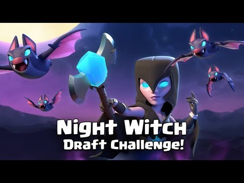 Night Witch Challenge Live! Clash Royale