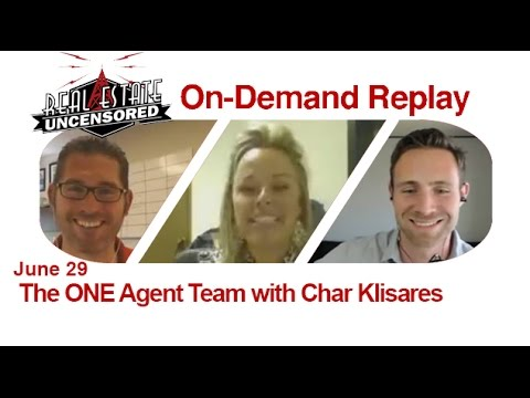 Real Estate Agent Marketing: The ONE Agent Team w/Char Klisares