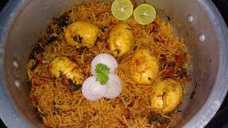 Egg Biryani in Pressure Cooker
