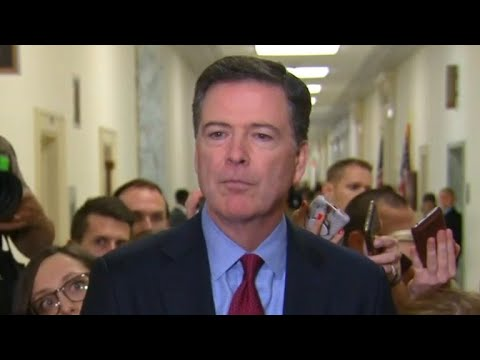 Ex-FBI chief James Comey speaks after House hearing