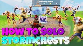 How to SOLO Storm Chests ALL LEVELS! | Fornite Save The World