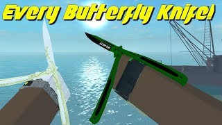 Every Butterfly Knife In Counter Blox!