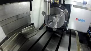 обработка лопатки на станке УиП ВФ450