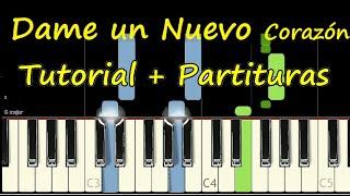 DAME UN NUEVO CORAZON SEÑOR Piano Tutorial Cover Facil + Partitura PDF Sheet Music Midi Pista Letra