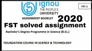 fst-01 solved assignment 2020/fst-01 solved assignment/fst solved assignment/ignou solved assignment