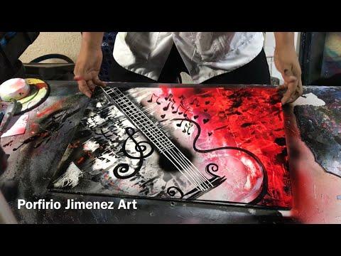 The Guitar la guitarra spray paint art