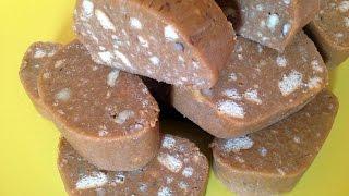 Сладкая Колбаска из Печенья и Сгущенки / Рецепт Детства ♥ | Шоколадная колбаса | Печенье | Выпечка