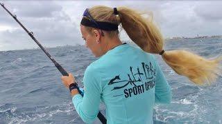 Florida High Wind Rough Sea Mahi Fishing with Darcie