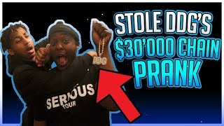 I STOLE YOUR $30,000 CHAIN PRANK *ON DDG*