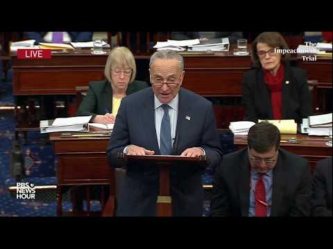 Schumer proposes amendment seeking more evidence on Ukraine | Trump impeachment trial