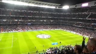 Torcida Real Madrid antes de jogo UCL contra Liverpool 2014.