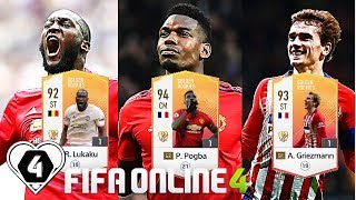 FIFA ONLINE 4: TEST DÀN GR VS P. Pogba GR - R. Lukaku GR & A. Griezmann GR - ShopTayCam.com