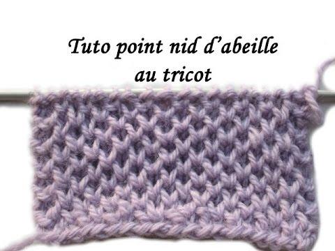 Connu TUTO POINT NID D'ABEILLE PETIT RAYON DE MIEL AU TRICOT Honeycomb  SL87