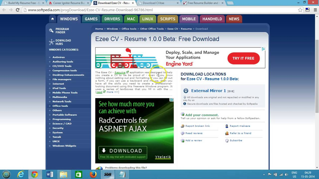 top 5 free resume builder best software for windows - Free Resume Download Software