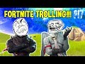 Fortnite 'Battle Royale' Trolling *hilarious* - Raging Squeaker Friendly Fire, Building