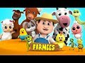 Animal Sounds Song | Nursery Rhymes | Kids Songs | Rhymes | Learn Animals Sounds by Farmees