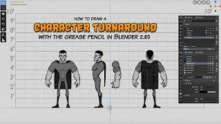 Character Turnaround with Blender's Grease Pencil