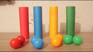 Новая игра. Учим цвета. Играем и учимся.