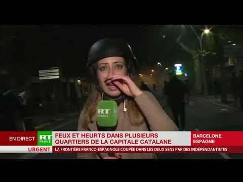 Barcelone : les forces de l'ordre chargent les manifestants
