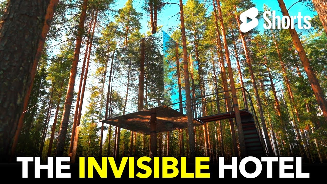 An Invisible Hotel Made of Mirrors!